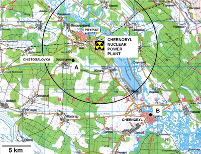Chernobyl area map